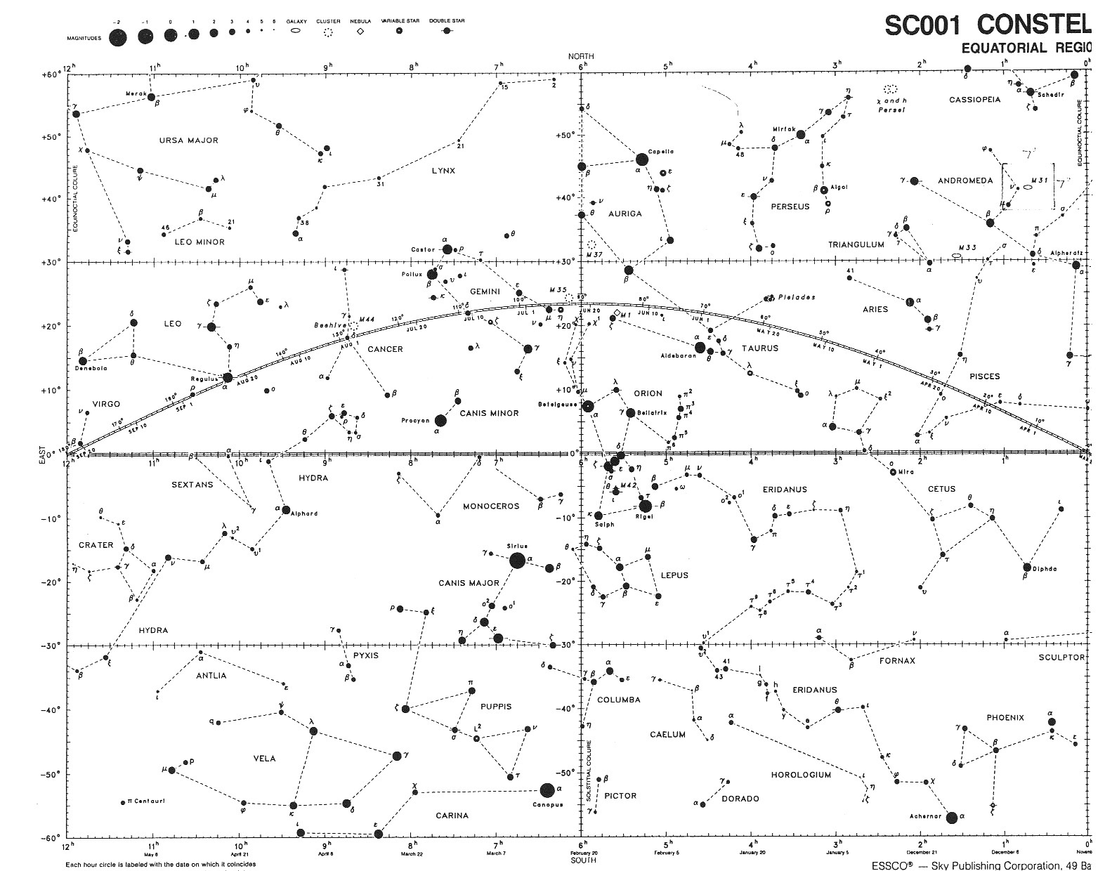 Backpacker All Sky Constellation Star Chart - Star map now