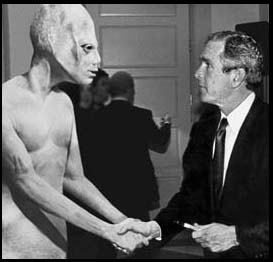 George Bush endorsed by Aliens